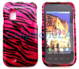 Samsung Fascinate i500 Hot Pink Zebra Hard Case Cover