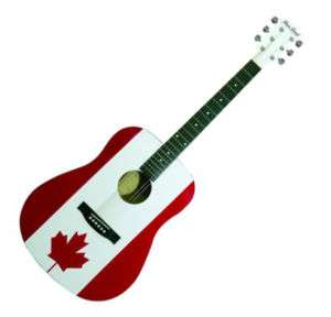 Main Street Canadian Flag Dreadnought Acoustic Guitar