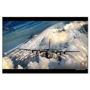 AC 130 Flares   Military Large Poster by CafePress: Home