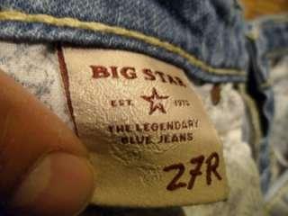 Womens Denim Sz 27 Remy Low Rise Boot Flap Pocket 27R 7 NICE