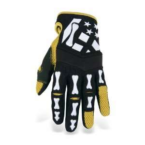 Acerbis Skeleton Black/White Small Gloves: Automotive