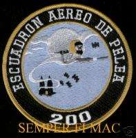 SQUADRON 200 PATCH MEXICAN AIR FORCE MEXICO GHOST WOW