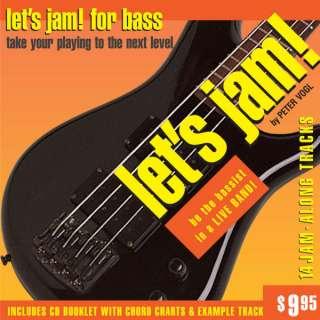 LETS JAM Play Along CD Tracks Full Band for BASS GUITAR