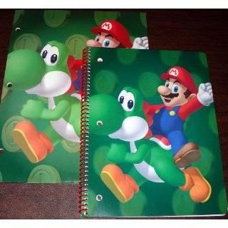 Nintendo Wii Super Mario & Yoshi School Folder & 60 Page