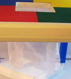 LEGO & MEGA COMPATIBLE TABLE TOYS PLAYTABLE WITH DRAW STRING STORAGE