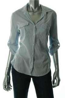 Standard James Perse NEW Button Down Shirt Blue BHFO Sale Top 4