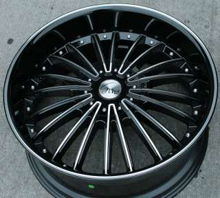 RVM 487 22 BLACK MD RIMS WHEELS BMW 745 750 760