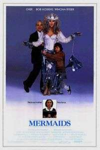 MERMAIDS orig Movie Poster  2 sided  CHER, WINONA RYDER
