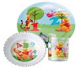 Disney Winnie The Pooh 3 Piece Dinner Lunch Gift Set Tumbler Bowl