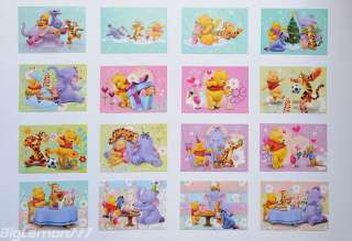 Walt Disney Winnie the Pooh & Friends 16 Postcard Set 4
