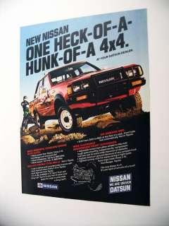 Nissan Datsun 4x4 Pickup Truck 1983 print Ad