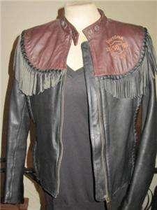 Harley Davidson Leather Jacket ORIGINAL Two Tone Brown Black Willie G