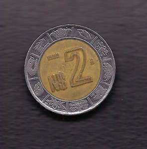 World Coins   Mexico 2 Pesos 1993 Coin KM# 551