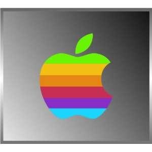 Apple Peace Coexist Rainbow Strips Decal Bumper Vinyl