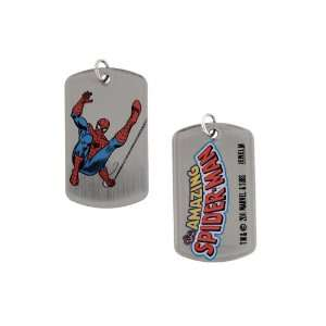 Series Marvel Comics Spiderman Spinning Web Dogtags Dog Tag Jewelry