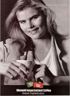 1986 Mariel Hemingway Maxwell House Coffee print ad