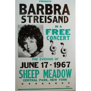 Barbra Streisand in a Free Concert in New York Poster
