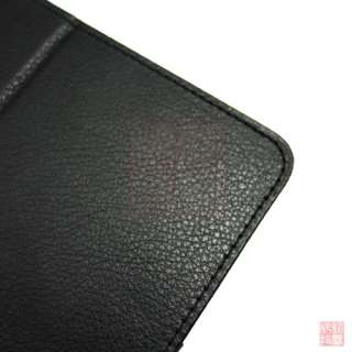 Black Folio Leather Case Cover w/Stand for Samsung Galaxy Tab GT P6800
