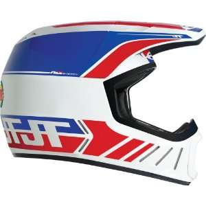 JT Racing USA ALS 02 White/Red/Blue Small MX Helmet