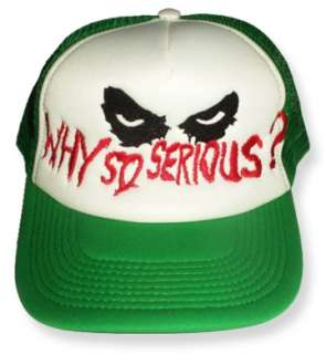 Embroidered Cap Batman Heath Ledger Why So Serious Green Hat