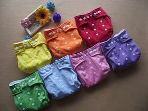 WHOLESALE LOT 20pcs Reusable Baby Cloth Diaper Nappy + 20pcs Inserts