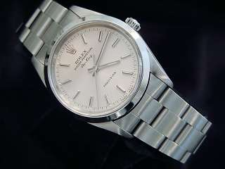 MEN STAINLESS STEEL ROLEX AIR KING NO DATE WATCH SILVER