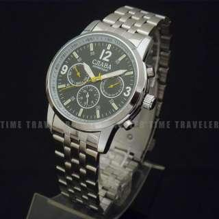 NEW BLACK Automatic Mechanical Mens Wrist Watch 6 Hands