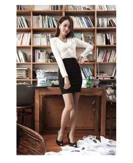 Elegant Womens O Neck Long Sleeved Tunic Lady Dress 8006#