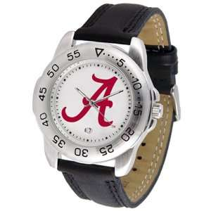 NCAA Alabama Crimson Tide Mens Gameday Watch w/Leather Band