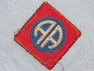 PATCH WWII US ARMY 82ND AIRBORNE INFANTRY DIVISION AS REMOVED CUTEDGE