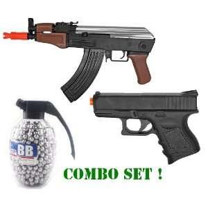 Combo Set Spring AK47 Stubby Killer FPS 240 High Capacity