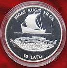 RARE VERY FIRST SET LATVIA 100 LATU 583 3 GOLD PROOF COIN 1993
