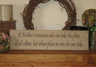 Mother Is  WOOD SIGN  Mothers Day Gift HOME Decor