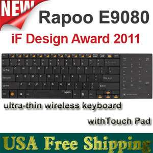 Rapoo E9080 New Ultra thin Wireless Keyboard W/Touchpad