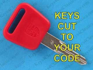 PORSCHE 928 SHORT RED KEY CUT TO CODE LOCKS NO ALARM