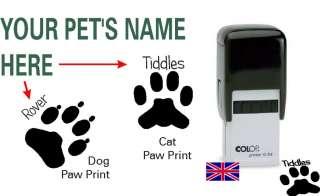 Stamp, Pet Paw Print, Cat & Dog, Self Inking 9004362396185