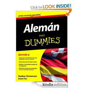 Alemán para Dummies (Spanish Edition): Christensen Paulina, Fox Anne