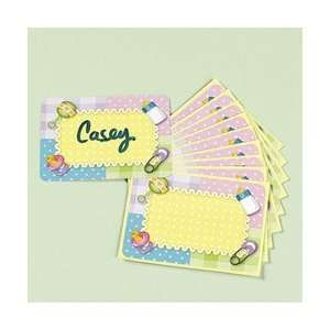 Lot of 24 Baby Shower Self Adhesive Name Tags Boy or Girl