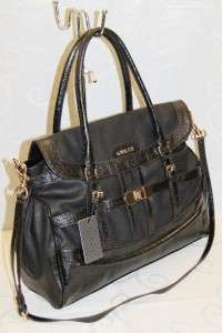 LADIES SATCHEL HANDBAG PURSE BLACK # GU 9938