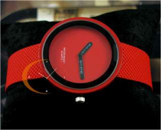 New 6 Color Unusual Designer Dial Lady/girls Watch PU Leather NICE