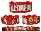 ALL TIME LOW Rubber Bracelet Wristband So Wrong, Its Right Red