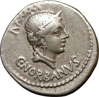 Roman Republic C Norbanus 83BC Fasces Caduceus Coin