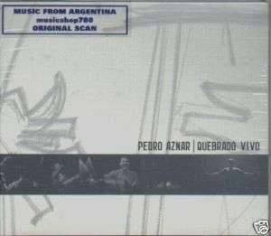 PEDRO AZNAR, QUEBRADO VIVO. LIVE. FACTORY SEALED 2 CD SET. IN SPANISH.
