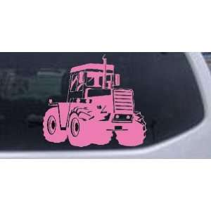Pink 10in X 11.2in    Logging Skidder Business Car Window Wall Laptop