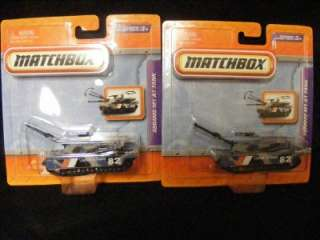 Matchbox Real Working Rigs Abrams M1 A1 Tank GRAY   Lot of 2