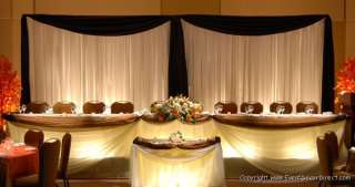 Voile for Draping Wedding Backdrop, Party Drape Decor  BLACK