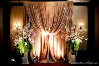 Professional Wedding Backdrop Kit w/Pipe, Drape and Valence: 1 PANEL 7