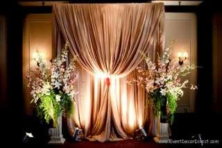 Professional Wedding Backdrop Kit w/Pipe, Drape and Valence: 1 PANEL 7
