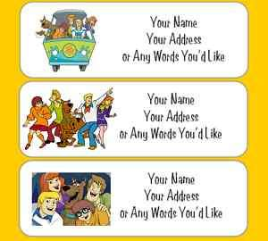 SCOOBY DOO GANG PERSONALIZED RETURN ADDRESS LABELS