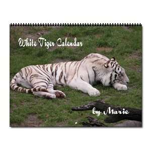 White Tiger Animal Wall Calendar by CafePress Office